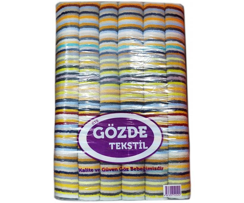 50x90 см. 12 шт/уп. Махровые Лицевые Полотенца Baskili Gozde
