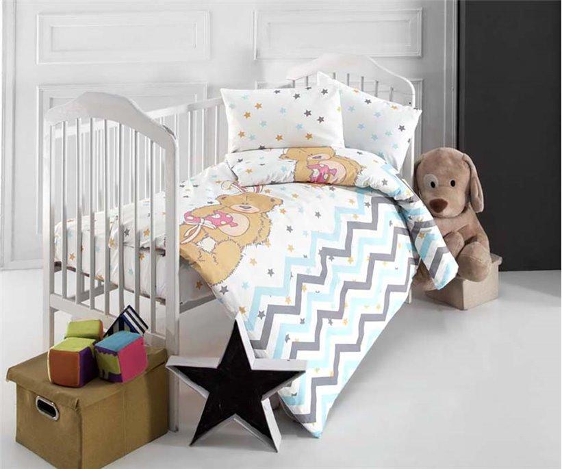Постельное Белье для Новорожденных Ranforce Bebek Star Bear - Altınbaşak