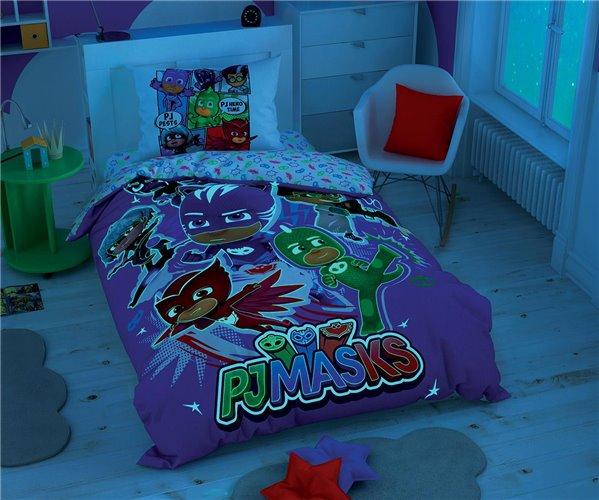 Лицензионное Постельное Бельё Ранфорс PJ Masks Hero Glow - TAC