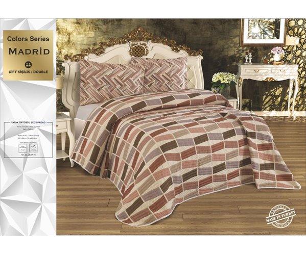 Жаккардовое Покрывало 240x260 см с 2-мя Наволочками 60x80 см Colors Seri - My Bed