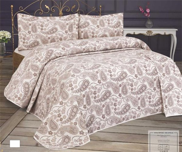 Жаккардовое Покрывало 240x260 см с 2-мя Наволочками 60x80 см Cotton Seri - My Bed