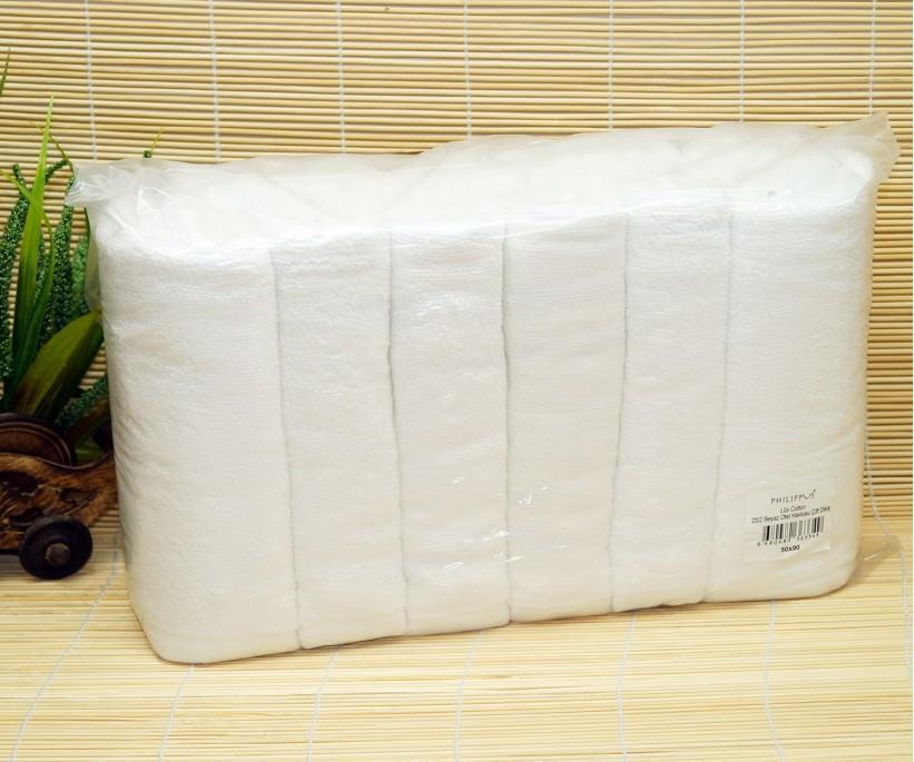 LUX 20/2 Махровые Белые Банные Полотенца 70x140 см. 6 шт/уп HOTEL PHILLIPUS