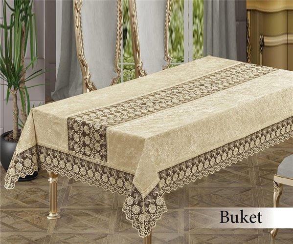 Скатерть 160x220 см. BUKET BEJ - Maison Royale