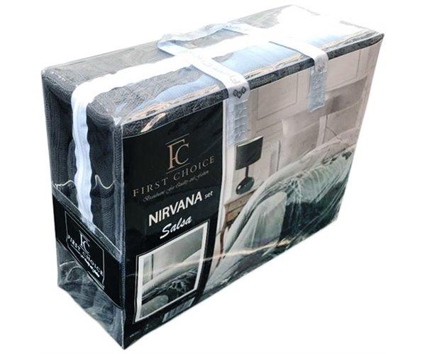 КПБ с Вязаным Покрывалом 220x240 см. Евро 2 сп. Nirvana Salsa - First Choice