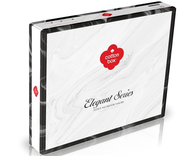 Комплект Постельного Белья Евро 2 сп. Сатин Elegant Stripe Saten - cotton box
