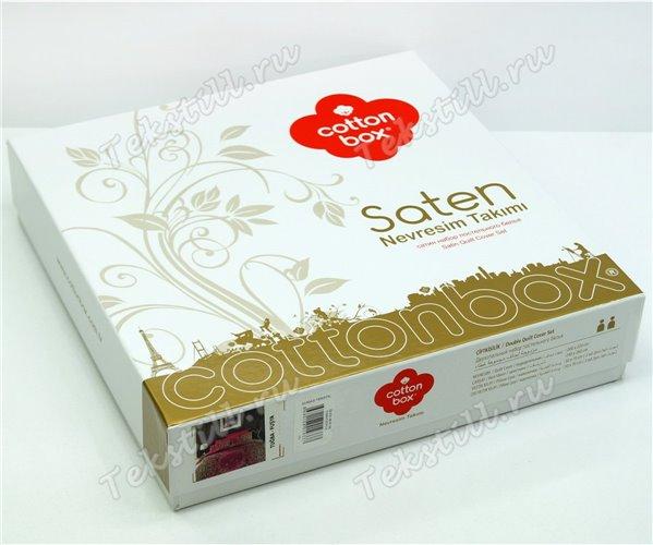 Комплект Постельного Белья Евро 2 сп. Сатин Saten cotton box