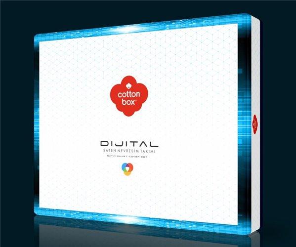 Комплект Постельного Белья Евро 2 сп. Сатин Dijital Saten - cotton box