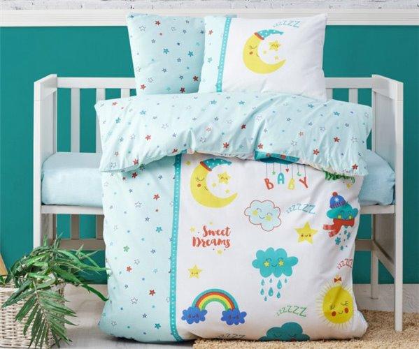 Постельное белье из ранфорса для новорожденных Bebek Ranforcei - cotton box