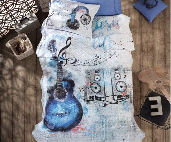 Подростковое КПБ со Стеганным Пододеяльником Ранфорс Girls&Boys - cotton box