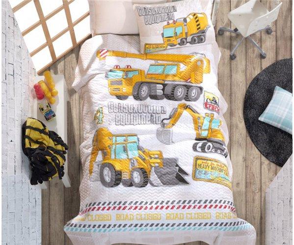 Детский КПБ со Стеганным Пододеяльником Ранфорс Junior - cotton box