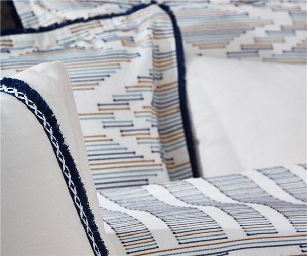 2 сп. Евро Комплект Постельного Белья Cotton Saten Colossae Multi Lacivert Çift - EcoCotton