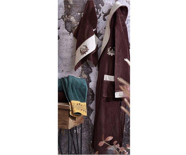 Подарочный Набор Халат + Полотенце + Тапочки (L) Pietra Kahve Bay Bornoz Seti - Large-EcoCotton