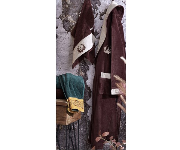 Подарочный Набор Халат + Полотенце + Тапочки (XL) Pietra Kahve Bay Bornoz Seti - Xlarge-EcoCotton