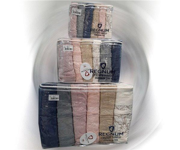 Махровые Полотенца 30x50 + 50x90 + 70x140 см по 6 шт/уп - Regnum Çeştepe