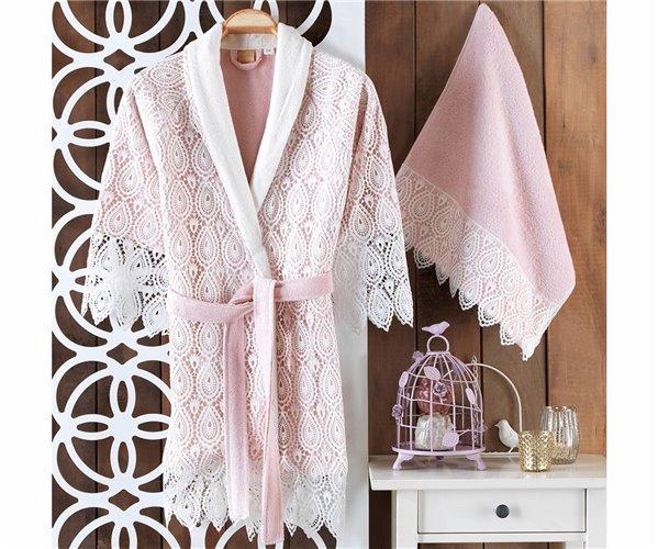 Подарочный Набор Халат (Standart) + Полотенце Mavera Bayan Bornoz Set - Royal Nazik