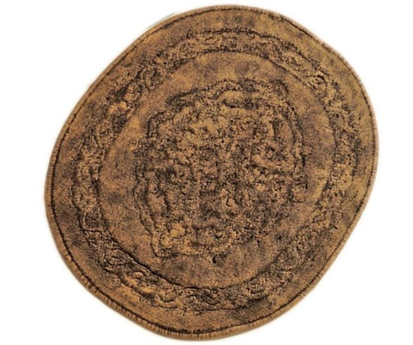 Ванный Набор 2 предмета (Коврик + Полотенцe) Selina Oval 2'li Banyo Paspas Takımı 60x100 cm - Royal Nazik