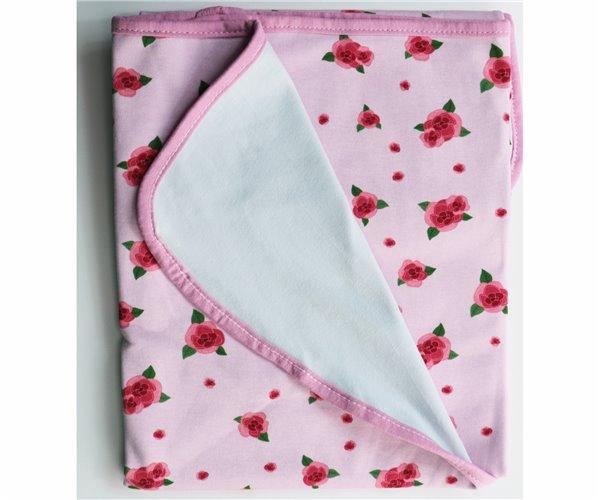 Одеялко для Новорожденных 80x80 см из Хлопка Penye Bebek Battaniyesi - Rose - Ephemeris