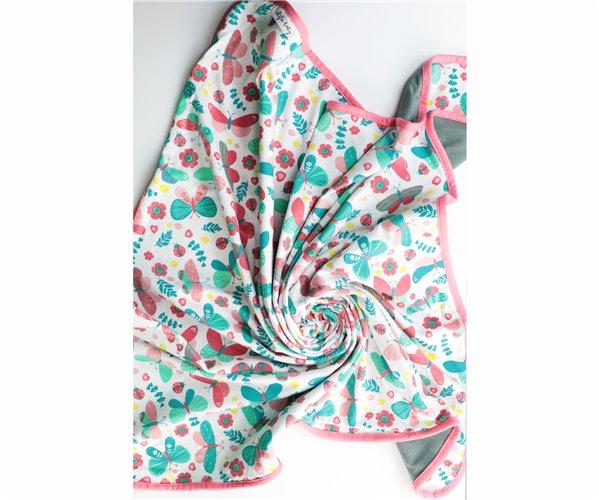 Одеялко для Новорожденных 80x80 см из Хлопка Penye Bebek Battaniyesi - Kelebek - Ephemeris