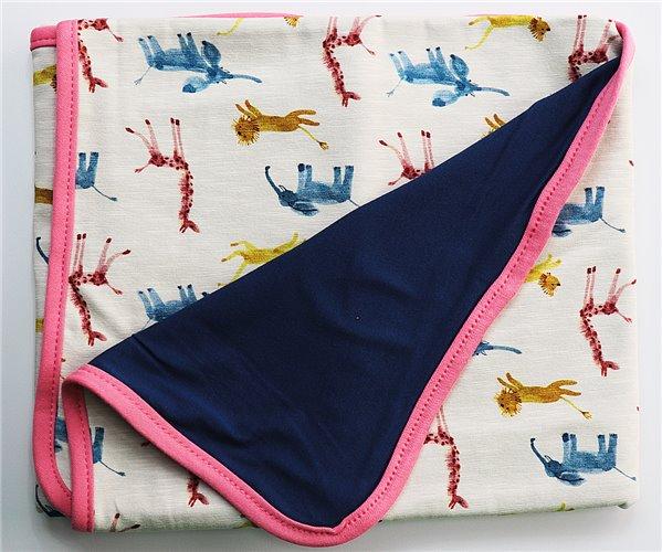 Одеялко для Новорожденных 80x80 см из Хлопка Penye Bebek Battaniyesi - Animals2 - Ephemeris