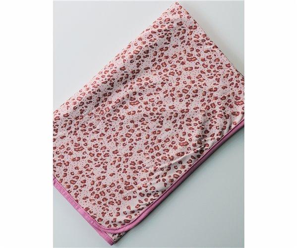 Одеялко для Новорожденных 80x80 см из Хлопка Penye Bebek Battaniyesi - Pink Leo - Ephemeris