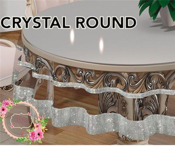 Скатерть Круглая Crystal Oval 160x169 см Sifat Silicon - Zelal
