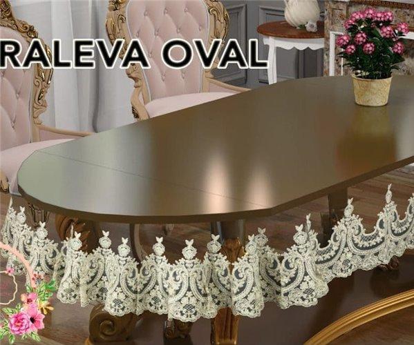 Скатерть Karaleva Oval 175x400 см Sifat Silicon - Zelal
