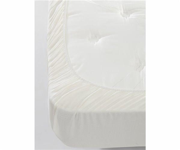 160x200 см+30 Простынь на Резинке с 2-мя Наволочками из Ранфорса FreshColor Beyaz