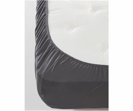 100x200 см+30 Простынь на Резинке с Наволочкой из Ранфорса FreshColor Füme