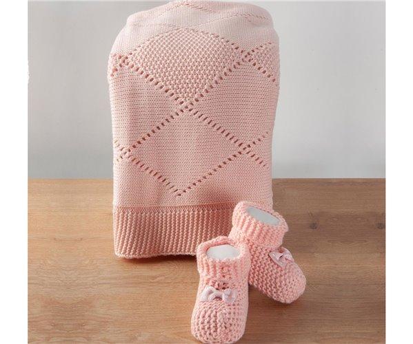 Вязаный Плед для Новорожденных 90х90 см Molly Bebek Battaniyesi - Royal Nazik
