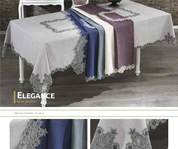 Скатерть с Декоративной Вышивкой 160x260 см - Royal Nazik