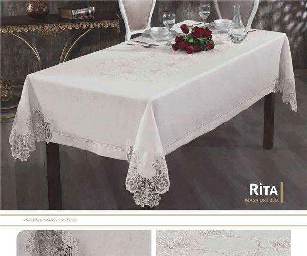 Скатерть с Декоративной Вышивкой 150x250 см - Royal Nazik
