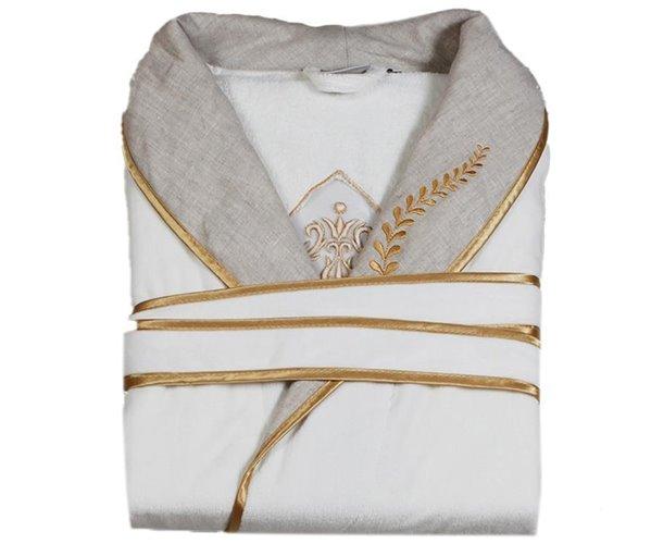 Халат Велюровый Женский (L) Hanzade Gold Bayan Bornoz Large - EcoCotton