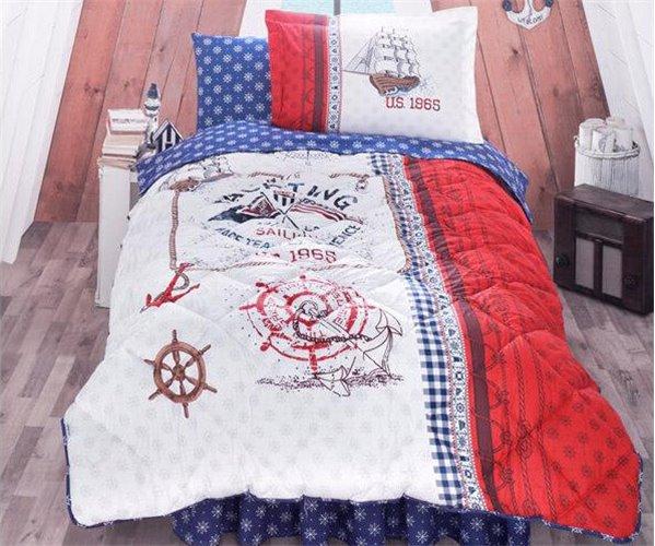Подростковый КПБ с Одеялом 155x215 см Ранфорс Genç Desen Uyku Seti - Clasy