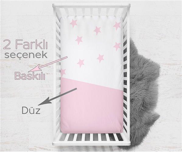 Пеленки 2 штуки 70x140 см из Хлопка Pink Star 2'li Bebek Çarşaf - Ephemeris