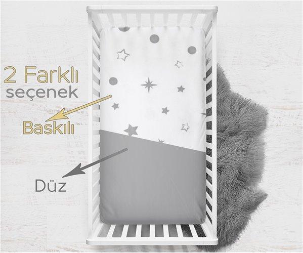 Пеленки 2 штуки 70x140 см из Хлопка Galaxy Gray 2'li Bebek Çarşaf - Ephemeris