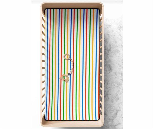 Простынь на Резинке 70x140 см из Хлопка Striped Bebek Çarşaf - Ephemeris