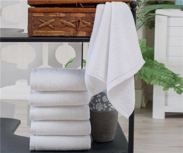 50x90 см. 12 шт/уп 400 Г/М² LUX RING 16/1 Махровые Белые Лицевые Полотенца HOTEL PHILLIPUS