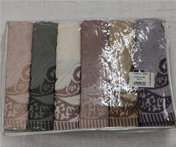 Велюровые Лицевые Полотенца 50x90 см 6 шт/уп. Ella - Şaheser