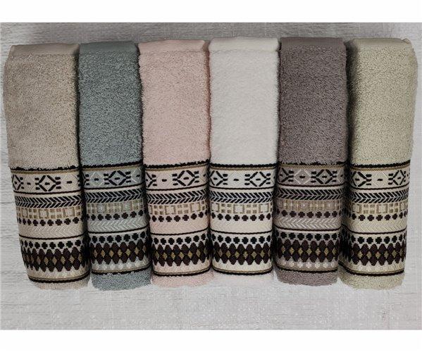 Велюровые Лицевые Полотенца 50x90 см 6 шт/уп. Basic - Şaheser