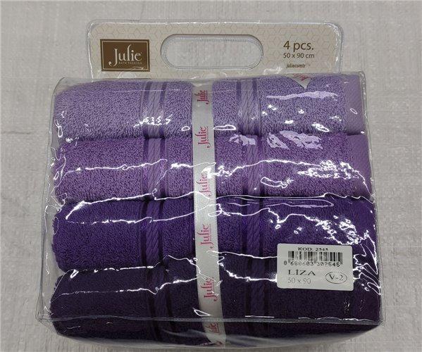 50x90 см Полотенца махровые однотонные 4 шт/уп. Julie - ByTem