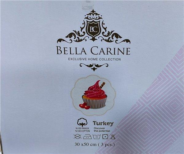 Махровые Полотенца с Вышивкой 30x50 см 3 шт/уп Kek Bella Carine - ByTem