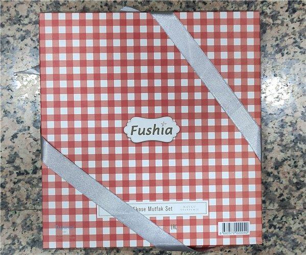 40x60 см 2 шт/уп Набор Полотенец Fushia Kırmızı Gri - ByTem