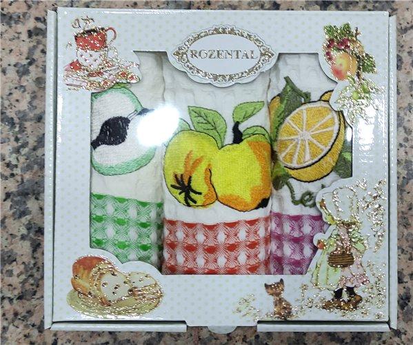 35x50 см 3 шт/уп. Вафельные Кухонные Полотенца Салфетки Fruit - ByTem
