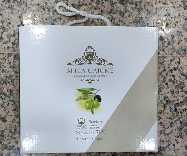 30x50 см 3 шт/уп Махровые Полотенца с Вышивкой Kek Bella Carine - ByTem