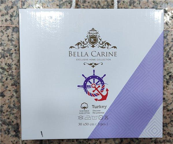 30x50 см 3 шт/уп Махровые Полотенца с Вышивкой Olive Bella Carine - ByTem
