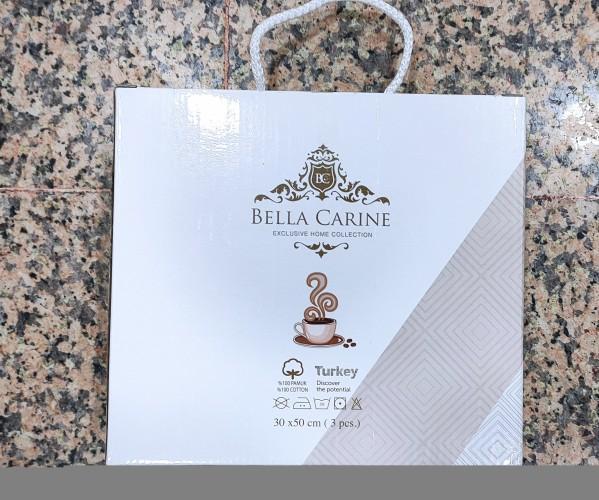 30x50 см 3 шт/уп Махровые Полотенца с Вышивкой Çapa Bella Carine - ByTem