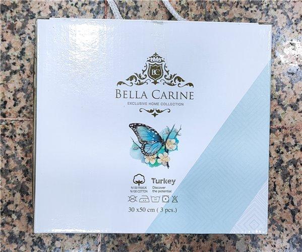 30x50 см 3 шт/уп Махровые Полотенца с Вышивкой Calpler Bella Carine - ByTem
