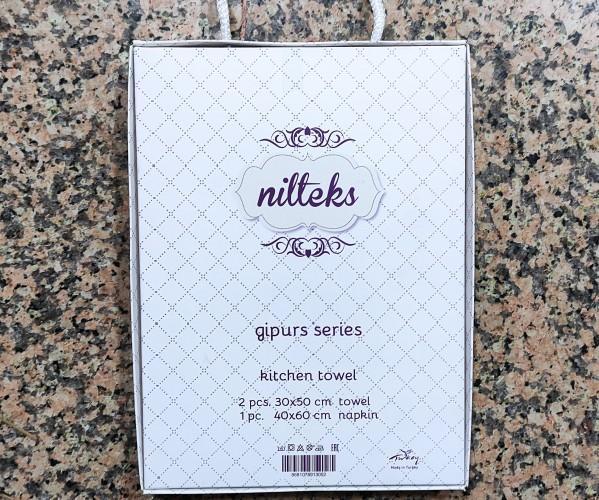 Набор Полотенец Махровый с Вафельным 30x50 см 3 шт/уп. Gipurs Series- Nilteks