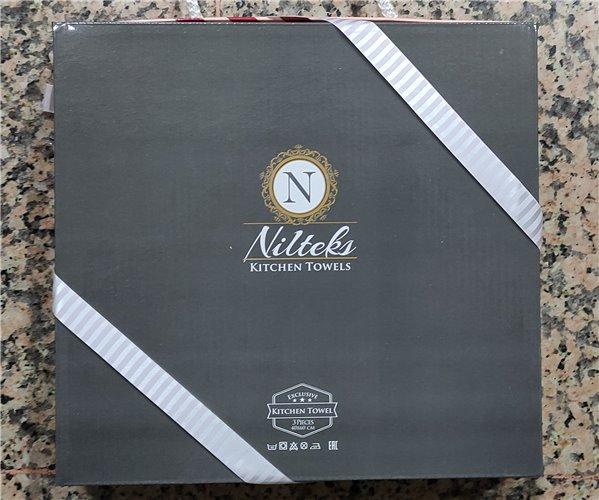 Набор Кухонных Вафельных Полотенец с Вышивками 40x60 см 3 шт/уп. Nilteks