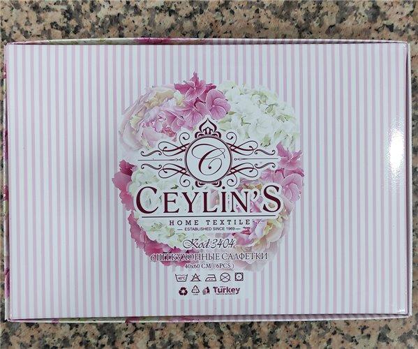 40x60 см 6 шт/уп Вафельныe Полотенца с Вышивкой Flowers Ceylin's - ByTem